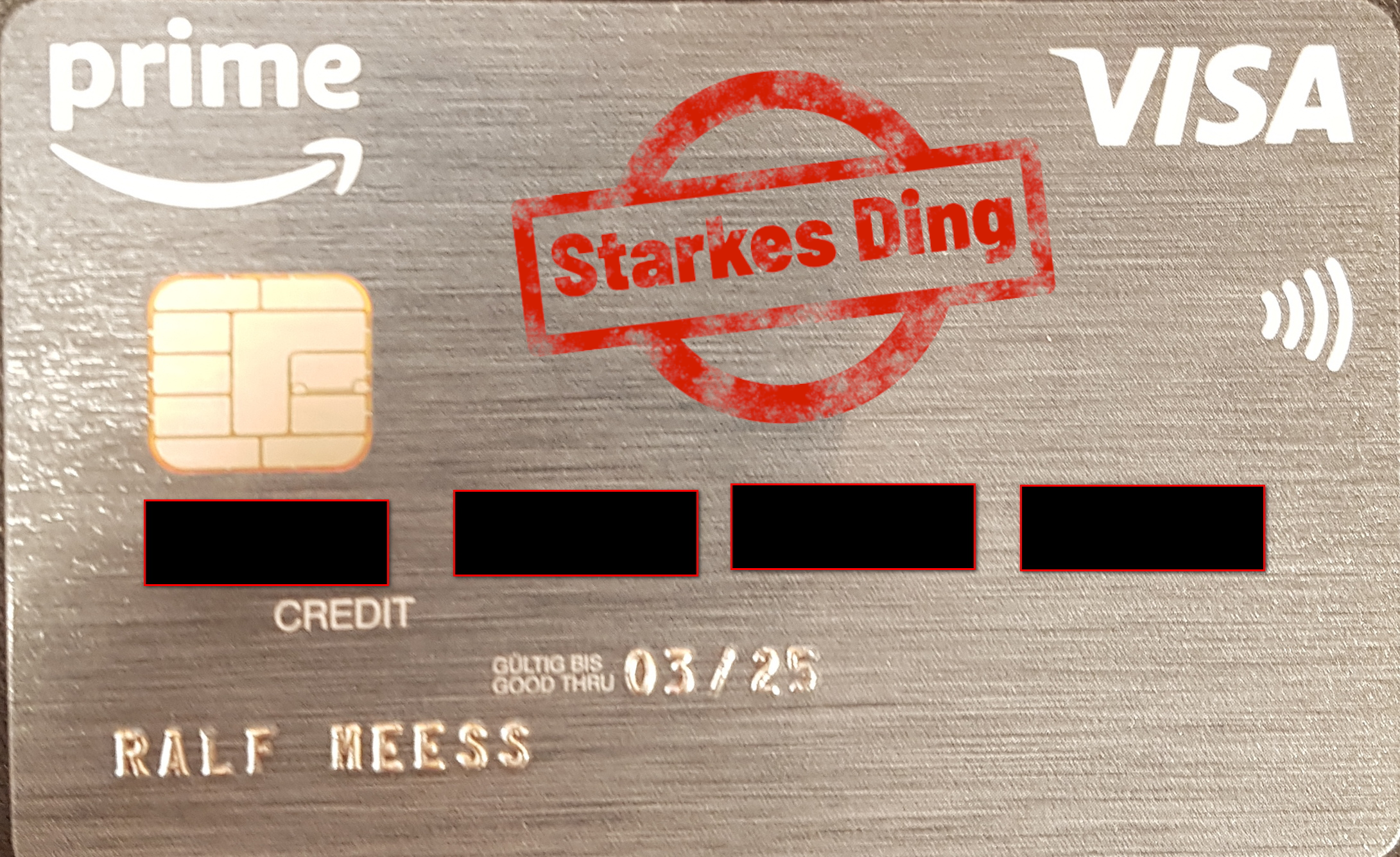 Amazon Visa Karte 40€ Startgutschrift