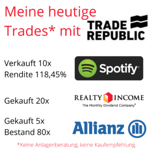 Depotveränderung bei Trade Republic