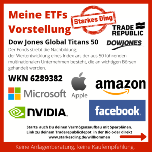 Meine ETFs – Dow Jones Global Titans