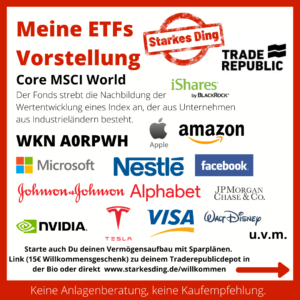 Meine ETFs – CORE MSCI WORLD