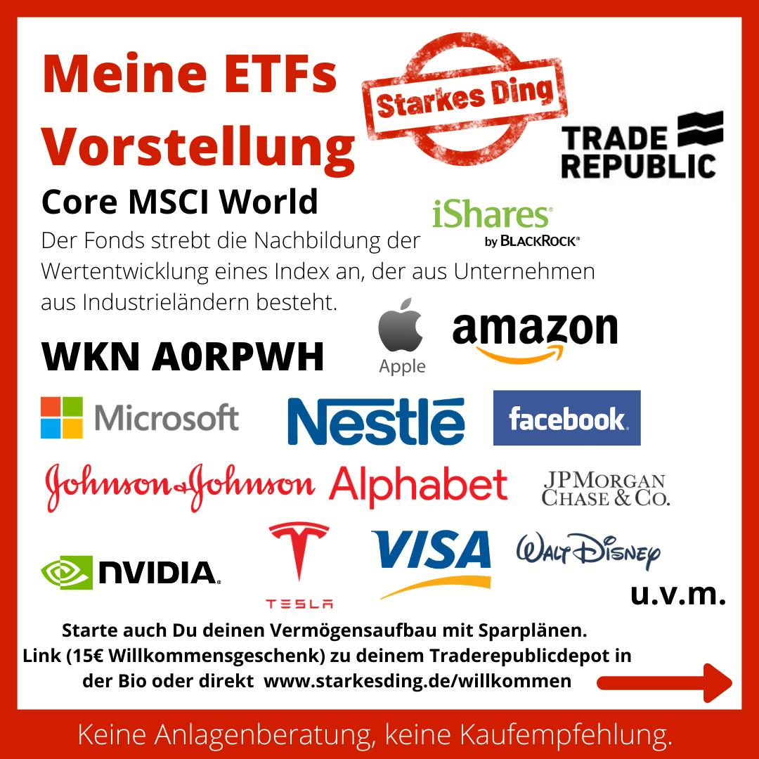 Meine ETFs – CORE MSCI WORLD