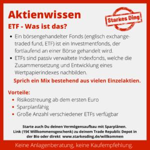 ETF – Was ist das?