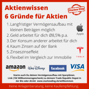 Read more about the article Gründe für ein Aktieninvestment