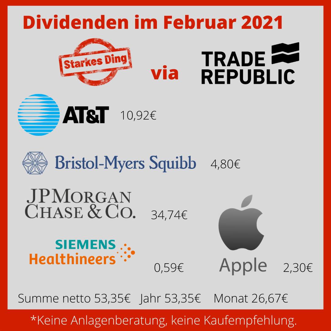 Dividenden im Februar 2021