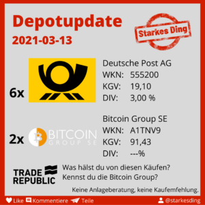 Depotzuwachs Deutsche Post