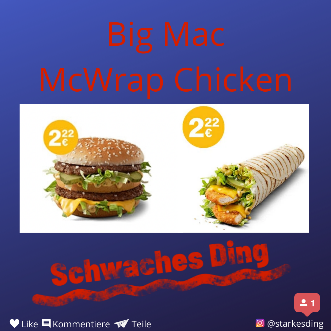 Read more about the article Big Mac und McWrap Chicken Spezial